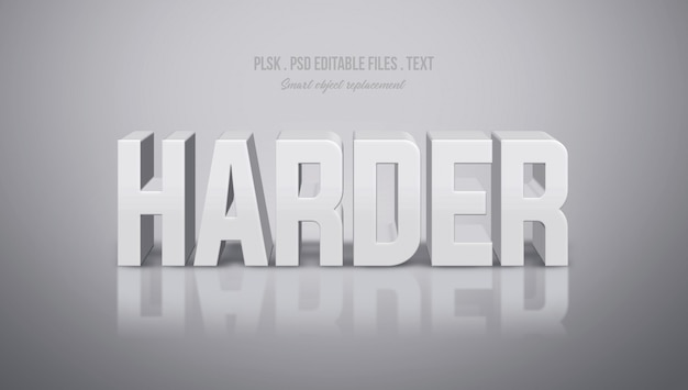 Harder 3d text style effect