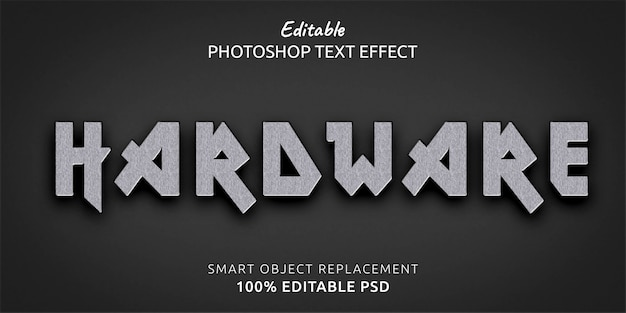 하드웨어 편집 가능한 photoshop 텍스트 스타일 효과