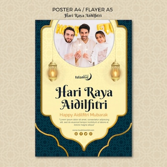 Hari raya aidilfitri poster template