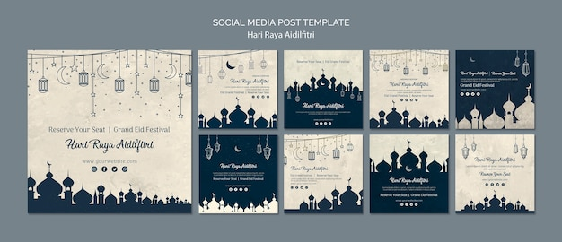 Hari raya aldilfitri social media post