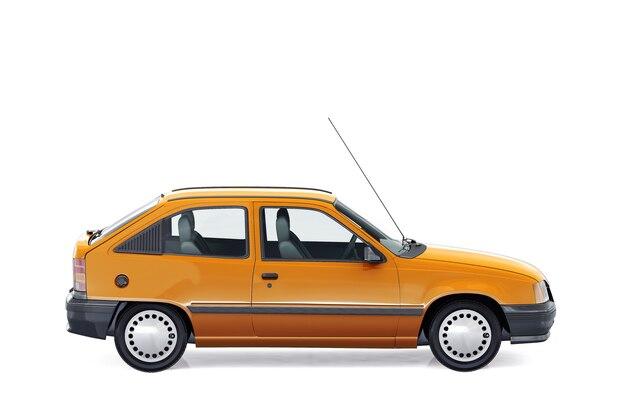 Mockup di auto berlina 1991