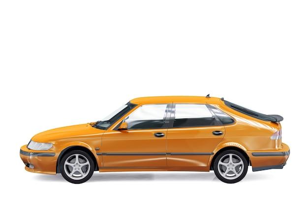 Mockup di auto berlina 2001