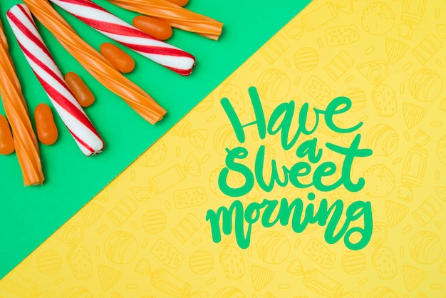 Have a sweet morning with sugar candy sticks