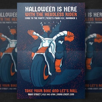 Headless Rider Halloween Party Flyer Template