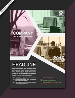 Headline flyer colorful modern bussiness brochure - a3 size
