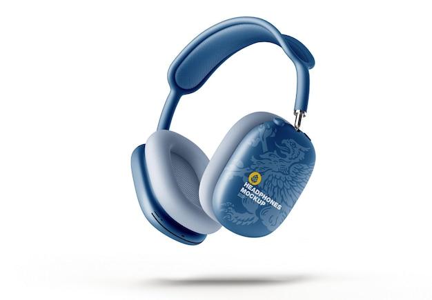 Headphones mockup half side view