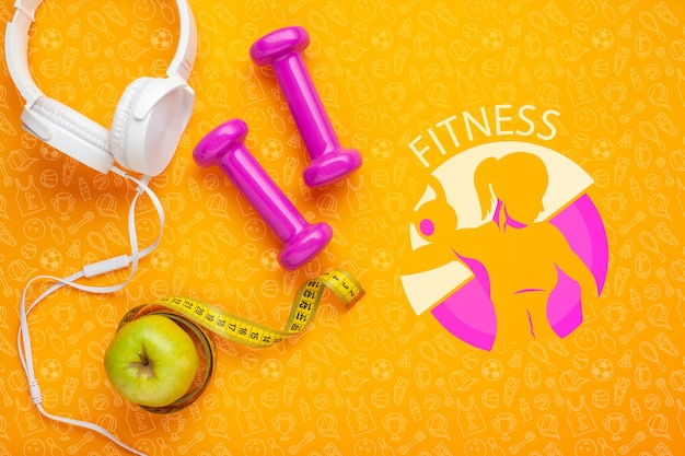 Headphones with weights and apple