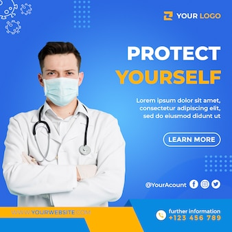 Health banner about covid-19