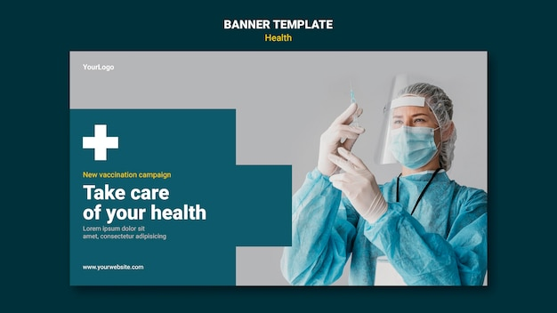Health care banner template