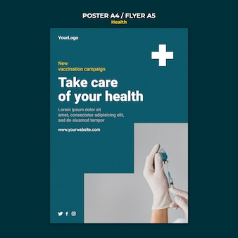 건강 관리 포스터 템플릿