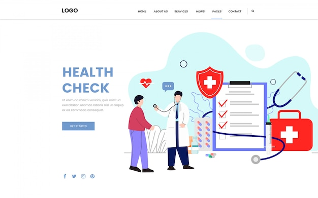 Health check consulting doctor landing page
