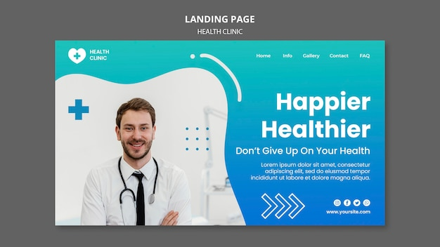 Health clinic landing page