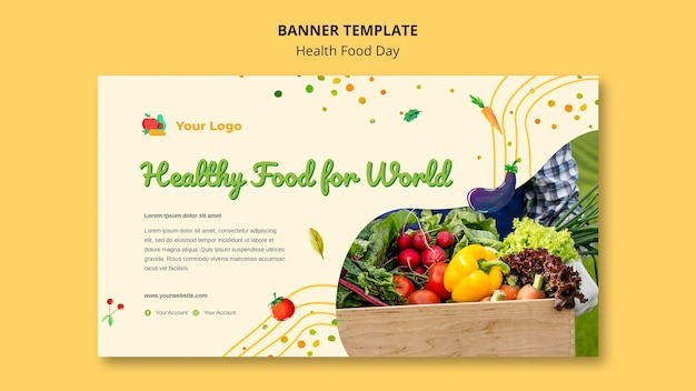 Health food day banner