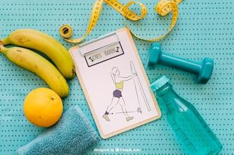Health mockup with clipboard