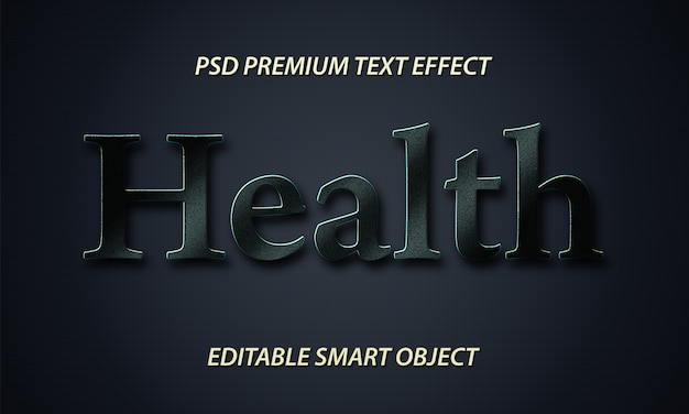 Health text style effect free psd