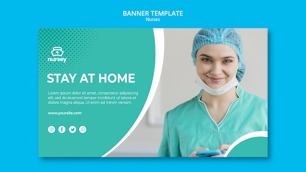 Healthcare concept banner template