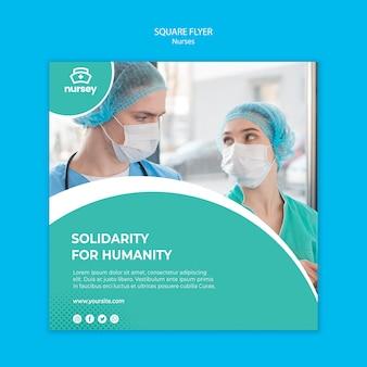 Healthcare concept square flyer