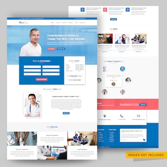 Healthcare and consultancy website psd template