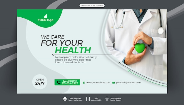 Healthcare medical web banner template