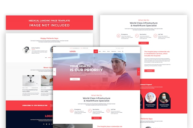Healthcare and pharmacy website psd premium template