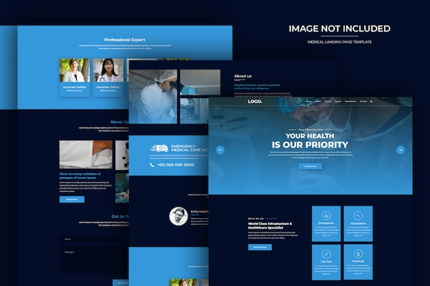 Healthcare and pharmacy website psd template