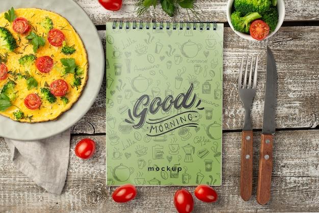 Макет концепции здорового завтрака