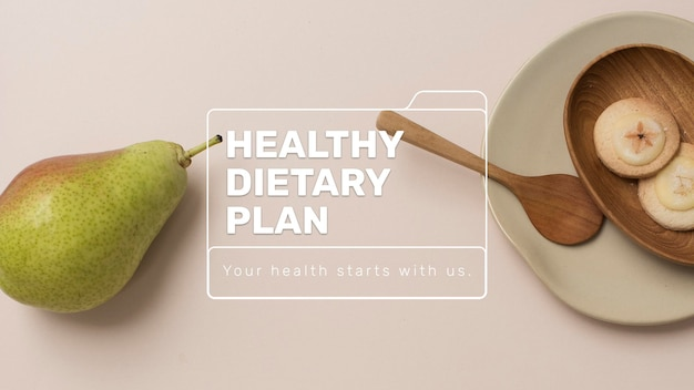 Healthy dietary plan template psd