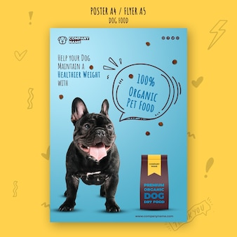 Healthy dog food flyer template