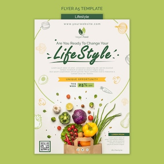 Healthy eating lifestyle flyer template