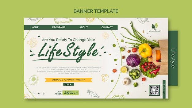 Healthy eating lifestyle template