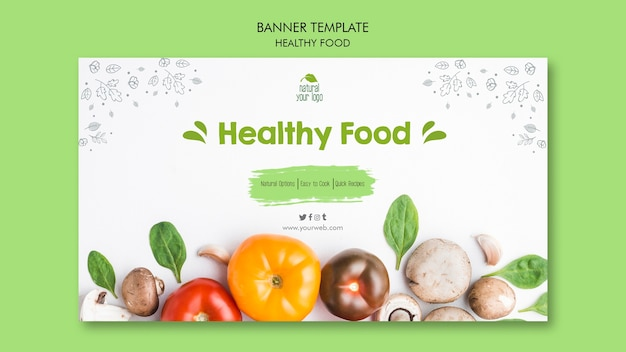 Healthy food banner template ttheme