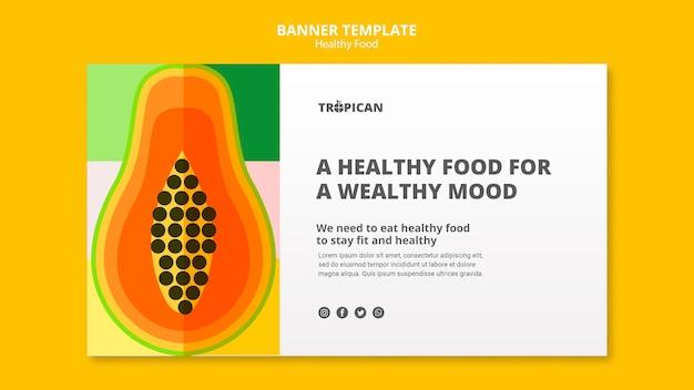 Шаблон баннера здорового питания