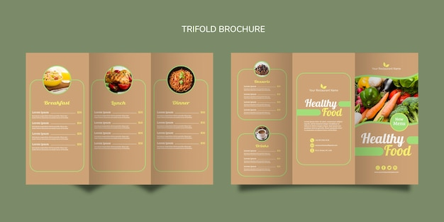 Healthy food bifold brochure
