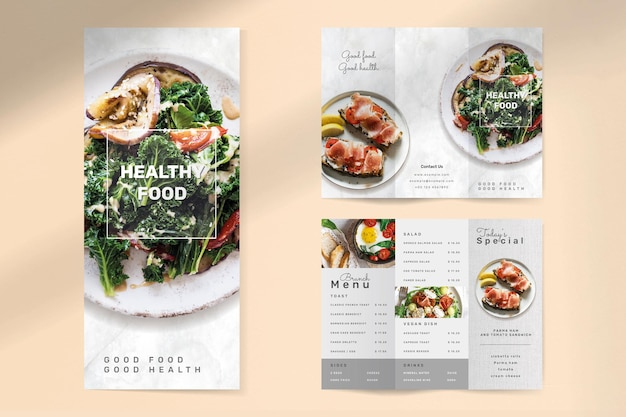 Шаблон брошюры здорового питания psd