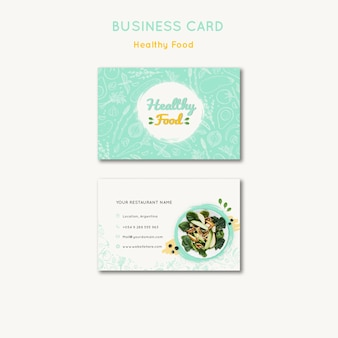 Healthy food business card template