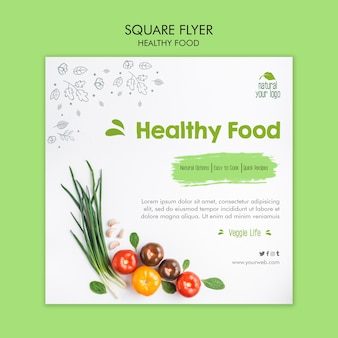 Healthy food flyer template design