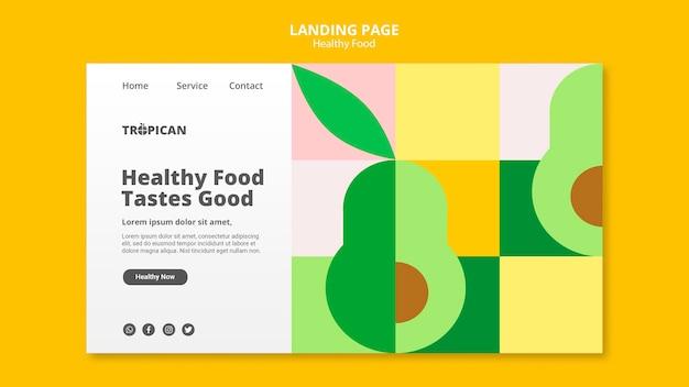 건강 식품 방문 페이지 프리미엄 PSD 파일