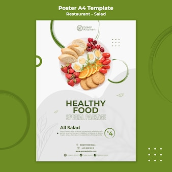 Healthy food package poster template