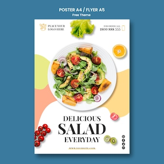 Healthy food poster template design
