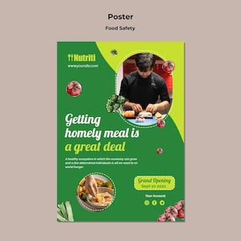 Modello di poster di cibo sano
