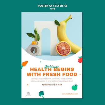 Healthy food print template