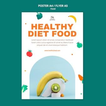 Healthy food print template