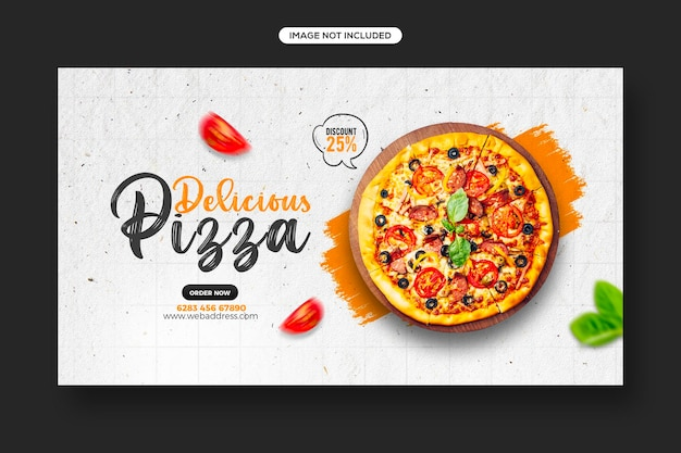 Healthy food promotion social media post and web banner template design