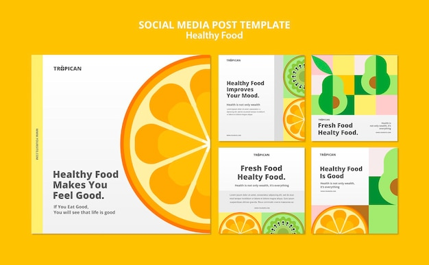 Healthy food social media post