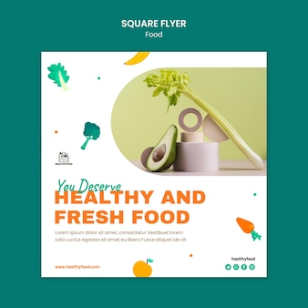건강 식품 광장 전단지 서식 파일
