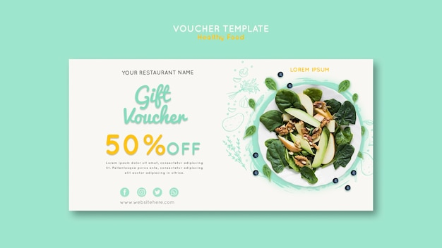 Healthy food voucher template