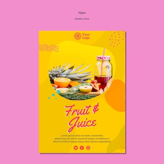 Healthy juice flyer template style