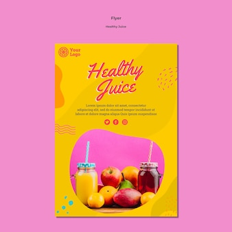 Healthy juice flyer template