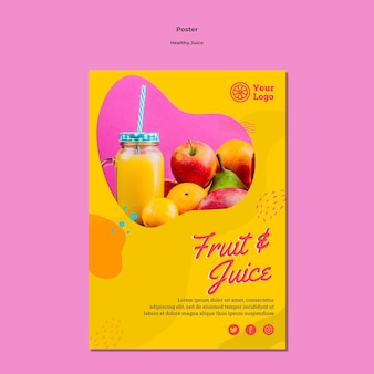 Healthy juice poster template design