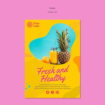 Healthy juice poster template